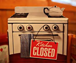 Kitchen is closed until January 4th.
