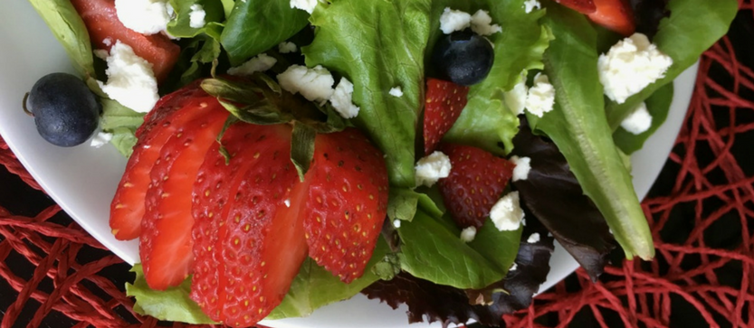 Mixed Berry and Goat Cheese Salad