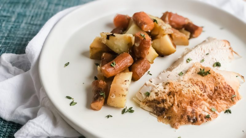 Roast Chicken with Potatoes and Carrots