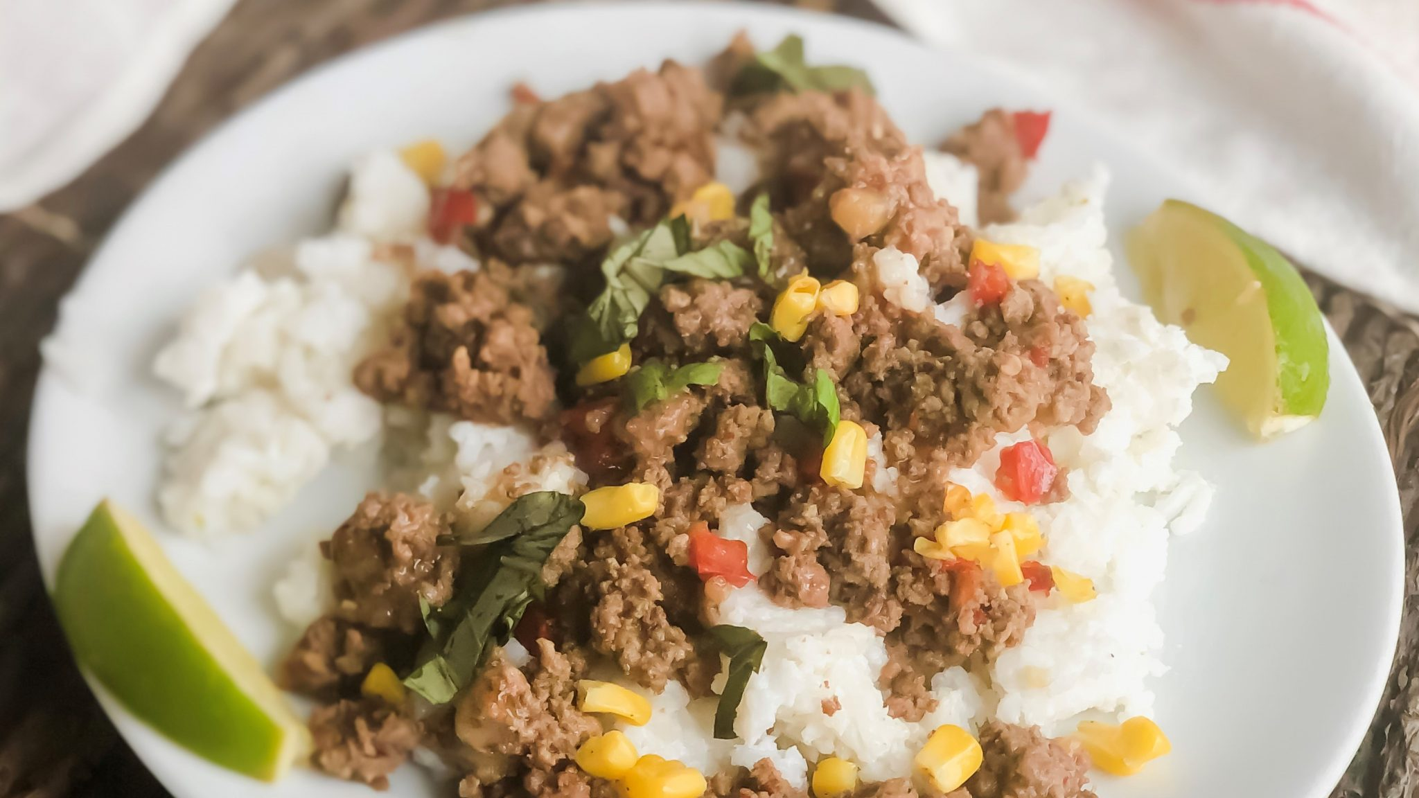 Thai Beef with Coconut Rice