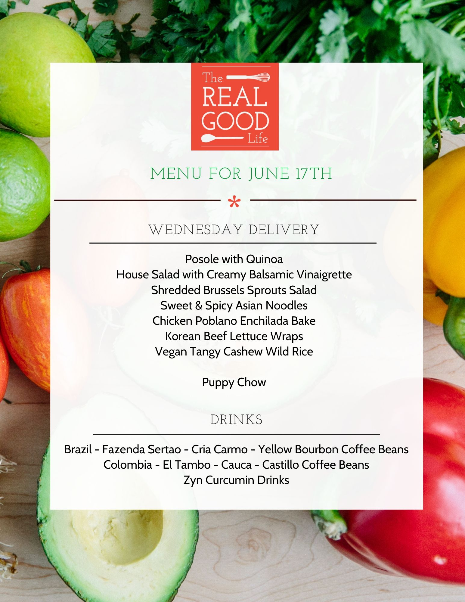 June 17th Menu